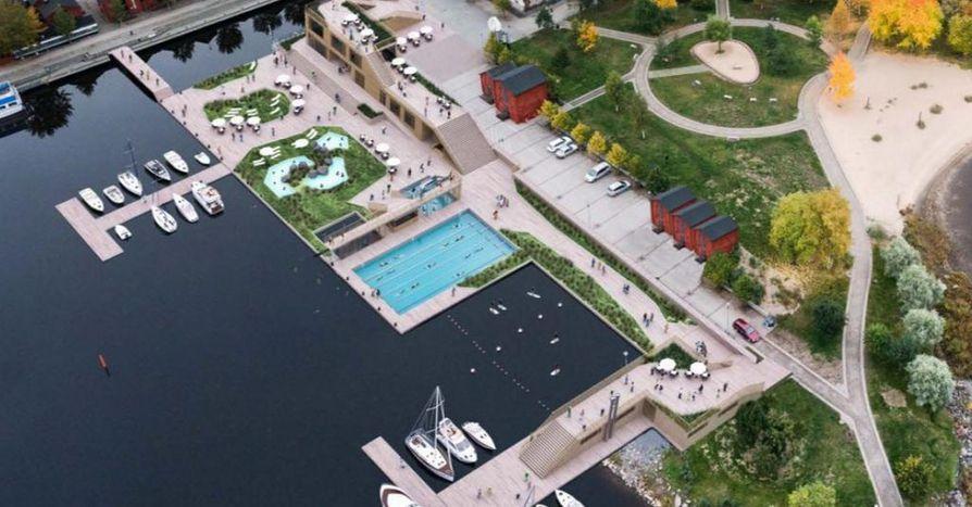 Uusia saunakeitaita on luvassa. Havainnekuvassa on Allas Sea Pool Oulu.