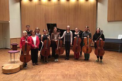 Seitsemän sellistin voimin – Oulun konservatoriolla on Porvoon sellokilpailussa hieno edustus