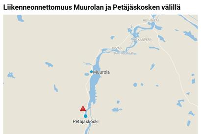 Liikenneonnettomuus Rovaniemen nelostiellä Muurolan ja Petäjäskosken välillä