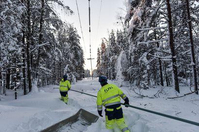 Yli 500 taloutta ilman sähköjä lauantaina – pahin tilanne Taivalkoskella