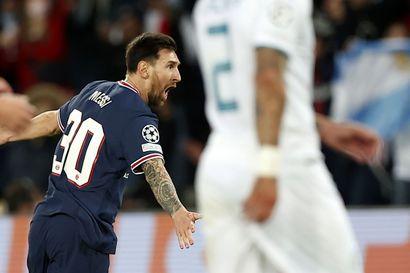 Lionel Messi viimeisteli PSG-uransa avausmaalin – City taipui Mestarien liigassa