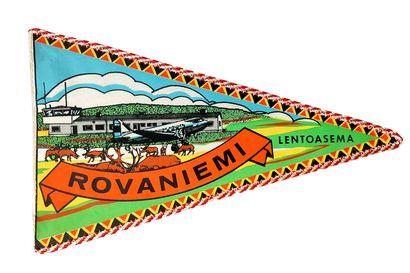 Vanhat matkailuviirit Lapista hehkuvat kirkkaita värejä ja nostalgiaa