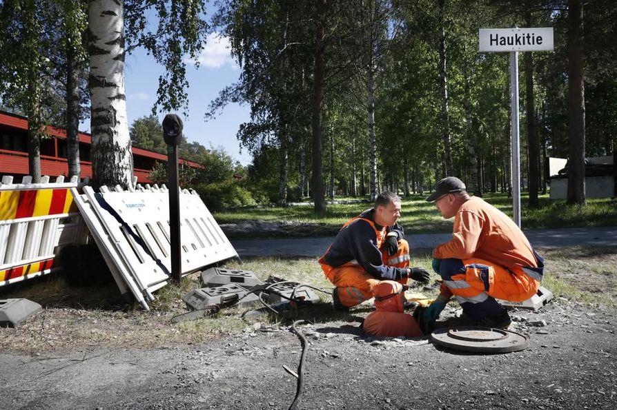 Runkoviemärin sukittaminen aloitettiin tiistaina Pyykösjärvellä.