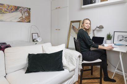 Hyvää opiskelutilaa ei lasketa neliöissä – oululainen Ella Rankinen ja rovaniemeläinen Vilma Teittinen vannovat yksinkertaisen ja riittävän valoisan opiskeluntilan nimeen