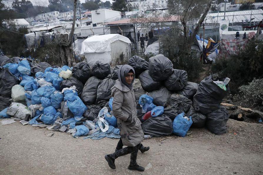 Esimerkiksi Kreikkaan kuuluvalla Lesboksen saarella on paljon pakolaisia.