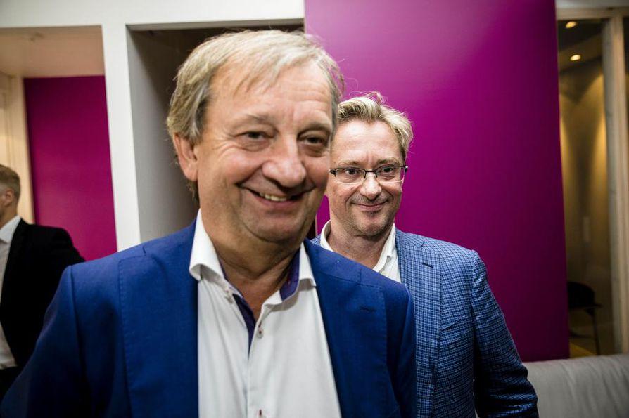Harry Harkimo ja Mikael Jungner ovat Liike Nytin perustajia. Arkistokuva.