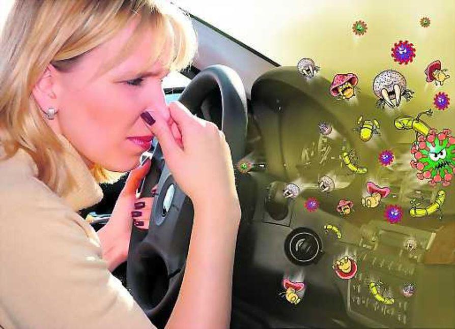 Nenä sen kertoo. Auton sisälle tulviva paha haju voi olla lähtöisin ilmastointilaitteistoon pesiytyneistä baktteereista.