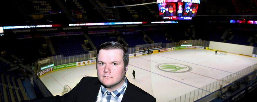 Kalevan urheilutoimittaja Teemu Wilenius.