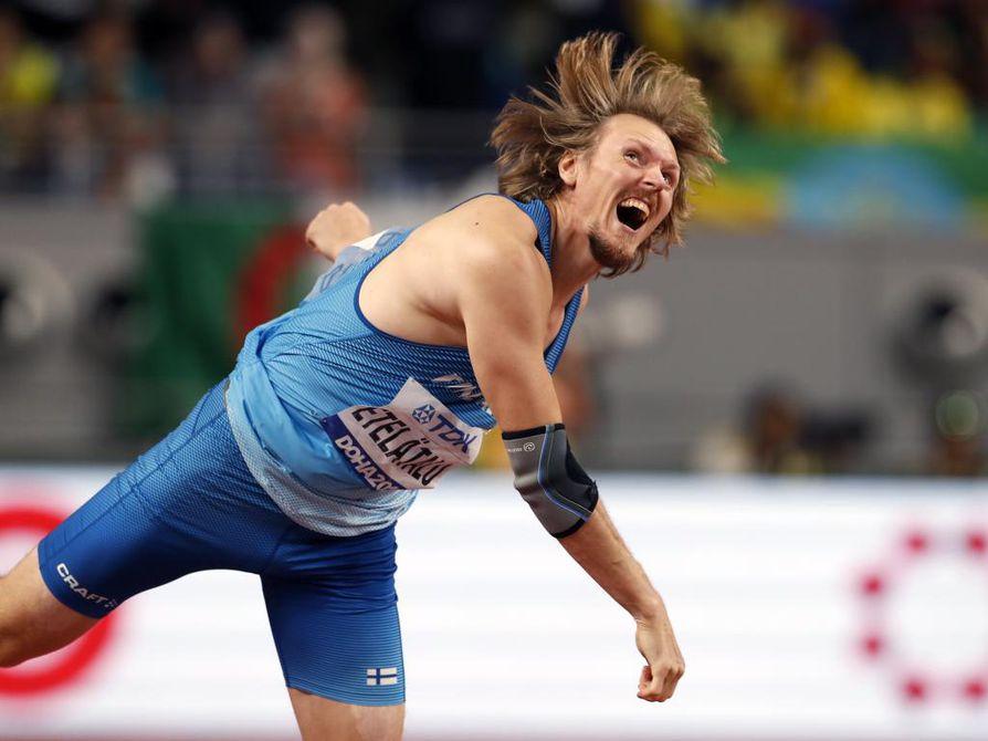 Lassi Etelätalo oli ainoa suomalaisurheilija, joka sijoittui pisteille Dohan MM-kisoissa.