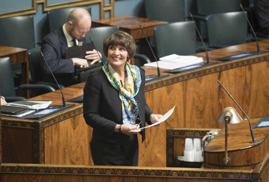Ministeri Anne Berner ei asetu ehdolle huhtikuun eduskuntavaaleissa. Arkistokuva.