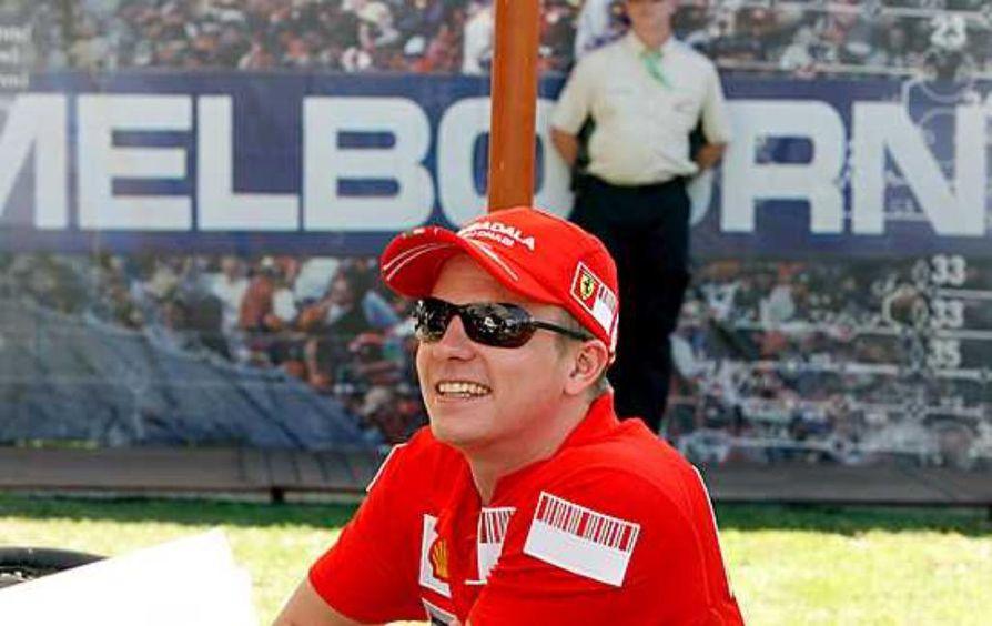 Kimi Räikkönen kolaroi Sveitsissä. Arkistokuva.