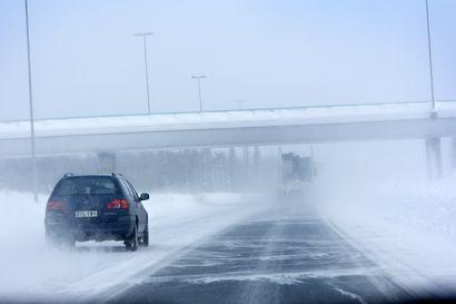 Meri-Lapin ajokeli erittäin huono, muualla Lapissa huono –Etelä-Lapissa tulee runsaasti lunta, tuuli voi olla navakkaa