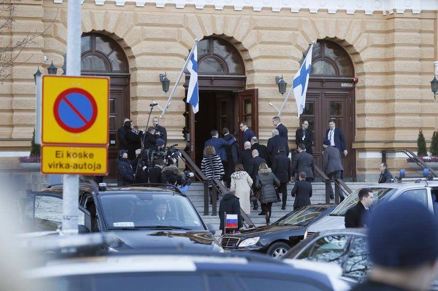 Pääministeri Juha Sipilä isännöi tänään Venäjän pääministerin Dmitri Medvedevin vierailua Oulussa.