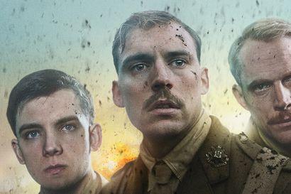Nuorten brittisotilaiden katseet himmenevät rintamalla ensimmäisessä maailmansodassa