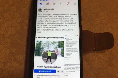 Nettihuijari iski Heidin hyvinvointipalveluiden some-profiiliin – arvonnoissa ei koskaan kysytä asiakkaan pankkikorttitietoja