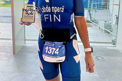 Jaana Leminen-Lahdenperä kakkonen täysmatkojen triathlonissa Hollannissa