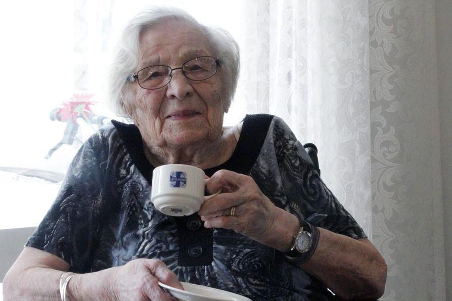 Kanerva oli Tornion vanhin asukas. Kuva on otettu hänen 104-vuotissyntymäpäiviensä aikoihin.