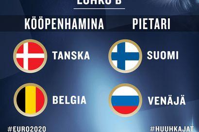 Huuhkajat taistelee EM-turnauksessa Belgiaa, Venäjää ja Tanskaa vastaan
