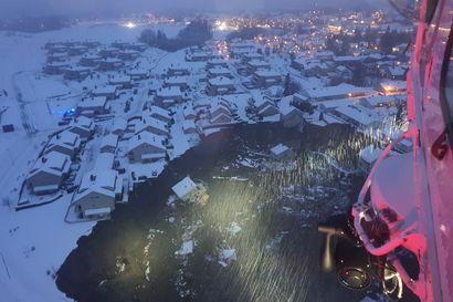 15 kadonneen etsintä jatkui Norjan Gjerdrumissa maanvyöryn jäljiltä