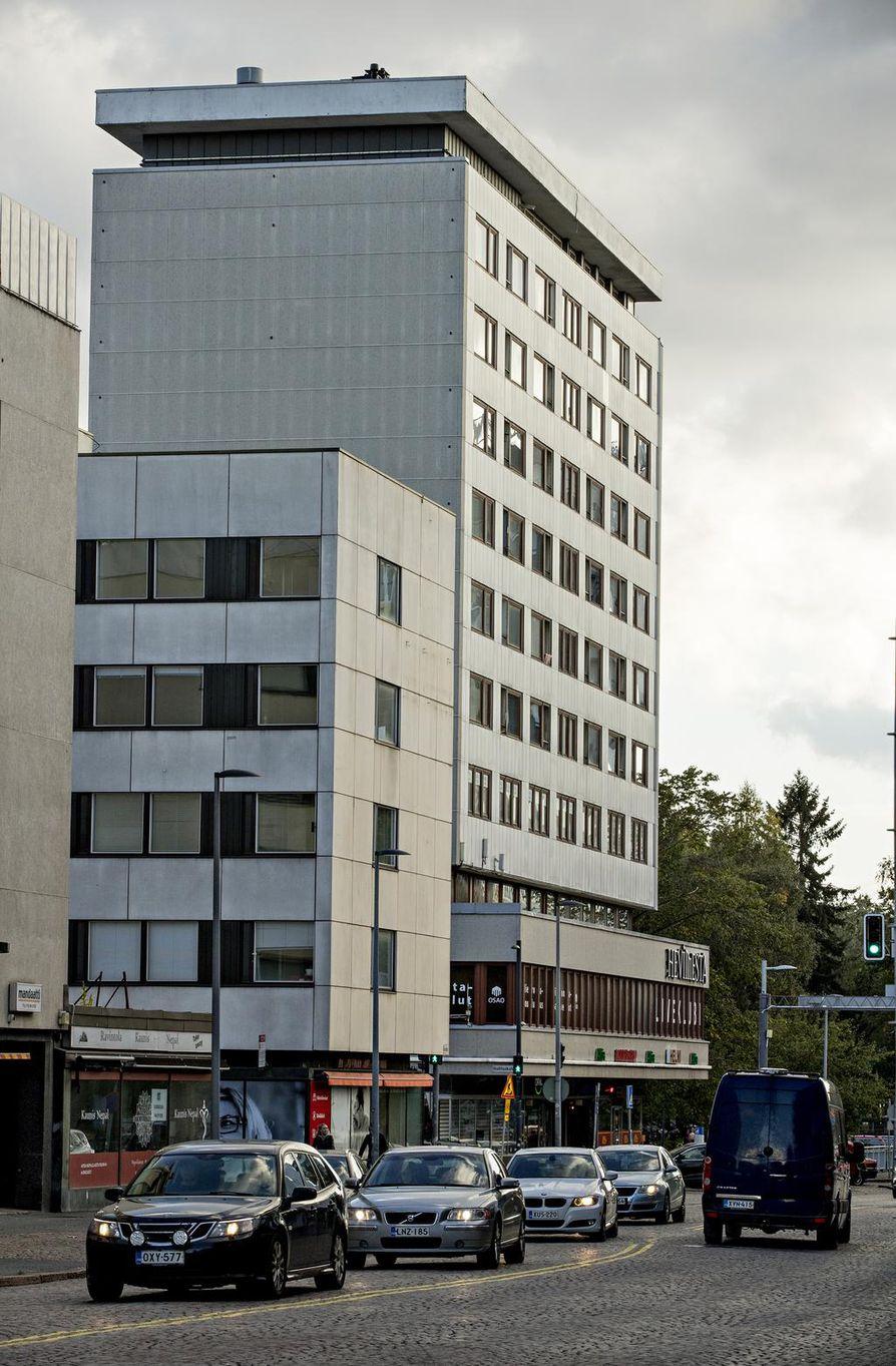 Klubitalo on yksi esimerkki Oulun keskustasta tällä hetkellä löytyvästä korkeasta rakentamisesta.