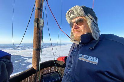 Kuumailmapallo lensi helmikuisena pakkasaamuna Hailuodosta mantereen puolelle – idea historialliseen lentoon syntyi lähes kymmenen vuotta sitten