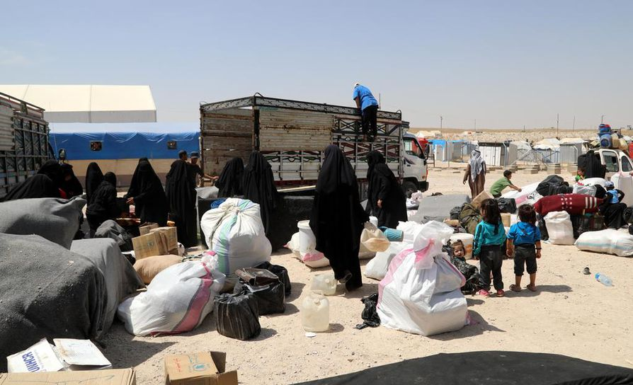 29-vuotiaan Isis-äidin palautus aiheutti Norjassa hallituskriisin. Kuvaa al-Holin leiriltä Syyriasta.