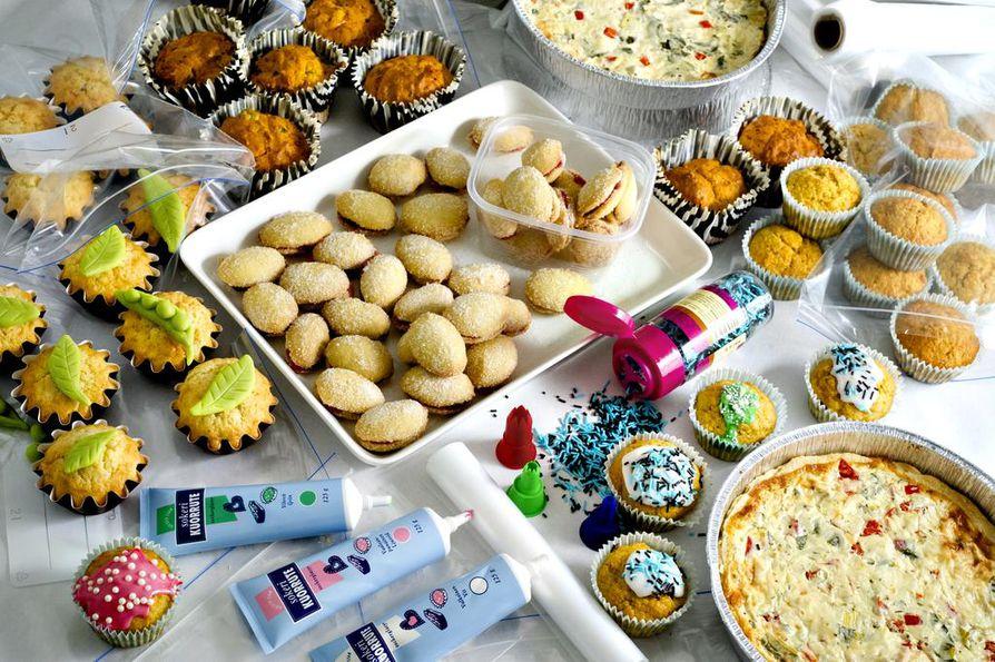 Erilaiset makeat ja suolaiset muffinit, suolaiset piirakat sekä lusikkaleivät sopivat hyvin pakastettaviksi.
