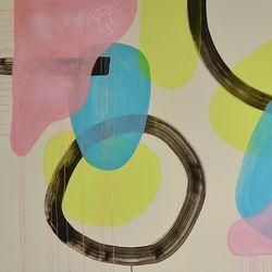 Arvio: Johanna Pétursdóttirin maalauksissa on sekä selkeitä väripintoja että sattumia