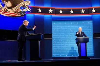 Mutapainia oikein olan takaa – Yhdysvaltain presidentinvaalien tv-väittely oli räävittömyydessään ennennäkemätön