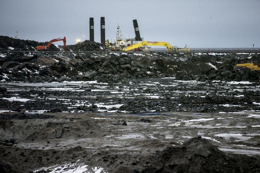 Fennovoiman ydinvoimalaa rakennetaan Pyhäjoella.