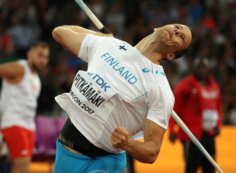 Pitkämäen kauden toiseksi parhaalla tuloksella 86,94 hellinnyt viitossija on Suomen joukkueen ensimmäinen pistesija näissä maailmanmestaruuskisoissa.