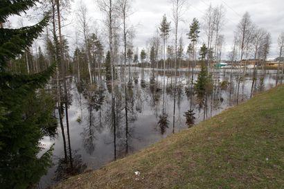 Lumen sulaminen nostaa jokien pintoja ja virtaamia Iijoen alueella