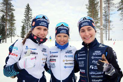 """""""Pronssi oli lähellä, mutta on tämä neljäs tilakin meille aivan mahtavaa"""", riemuitsi Visa Ski Team Kemin viestitrio"""