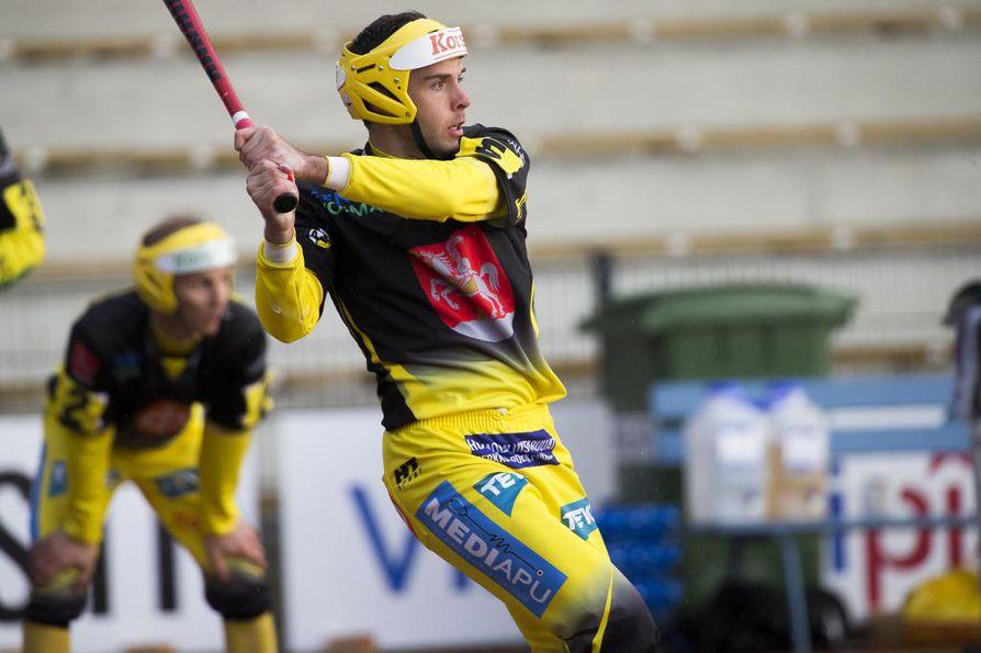 Markus Lehtiniemi jatkaa pelaamista Oulun Lipossa. Arkistokuva vuodelta 2018, jolloin Lehtiniemi pelasi Pattijoen Urheilijoissa.
