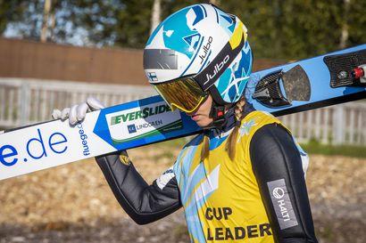 Jenny Rautionaho nousemassa mäkihypyn kärkikaartiin – kesä-GP:n 6. sija ja 129,5 metriä pistivät ennätykset uusiksi
