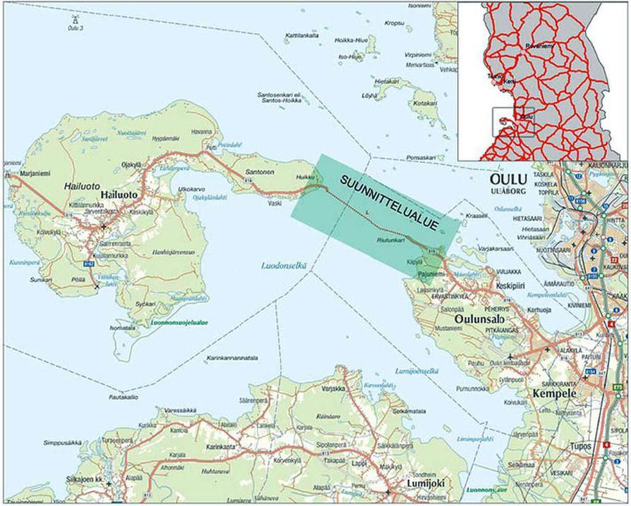 Pengertietä suunnitellaan Oulunsalon ja Hailuodon välille.