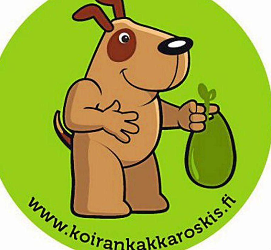 Tarra kertoo, että ohikulkevat koiranulkoiluttajat saavat nakata koirankakkapussin roskikseen.
