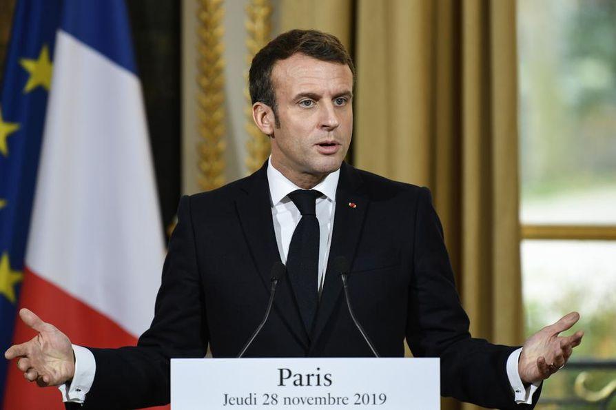Ranskan presidentti Emmanuel Macron hämmensi Nato-kommenteillaan.