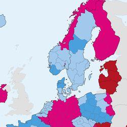 EU ei suosittele matkustamista Lappiin – koko Suomi muuttui punaiseksi EU:n koronakartalla, vaikka Lapin pitäisi olla vihreänä