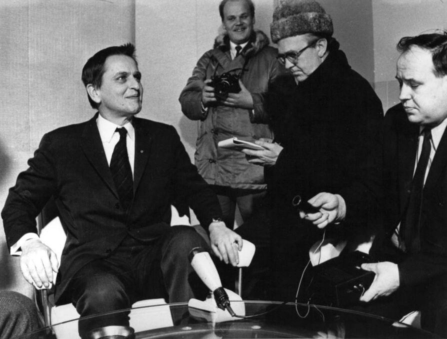Ruotsin pääministeri Olof Palme murhattiin helmikuussa 1986.