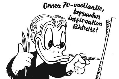 KÄÄK! Ärhäkkä, epäonninen räpyläniekka kumppaneineen on seikkaillut Suomessa jo 70 vuotta – Kolme sarjakuvantekijää kertoo, mitä Aku Ankka on heille merkinnyt