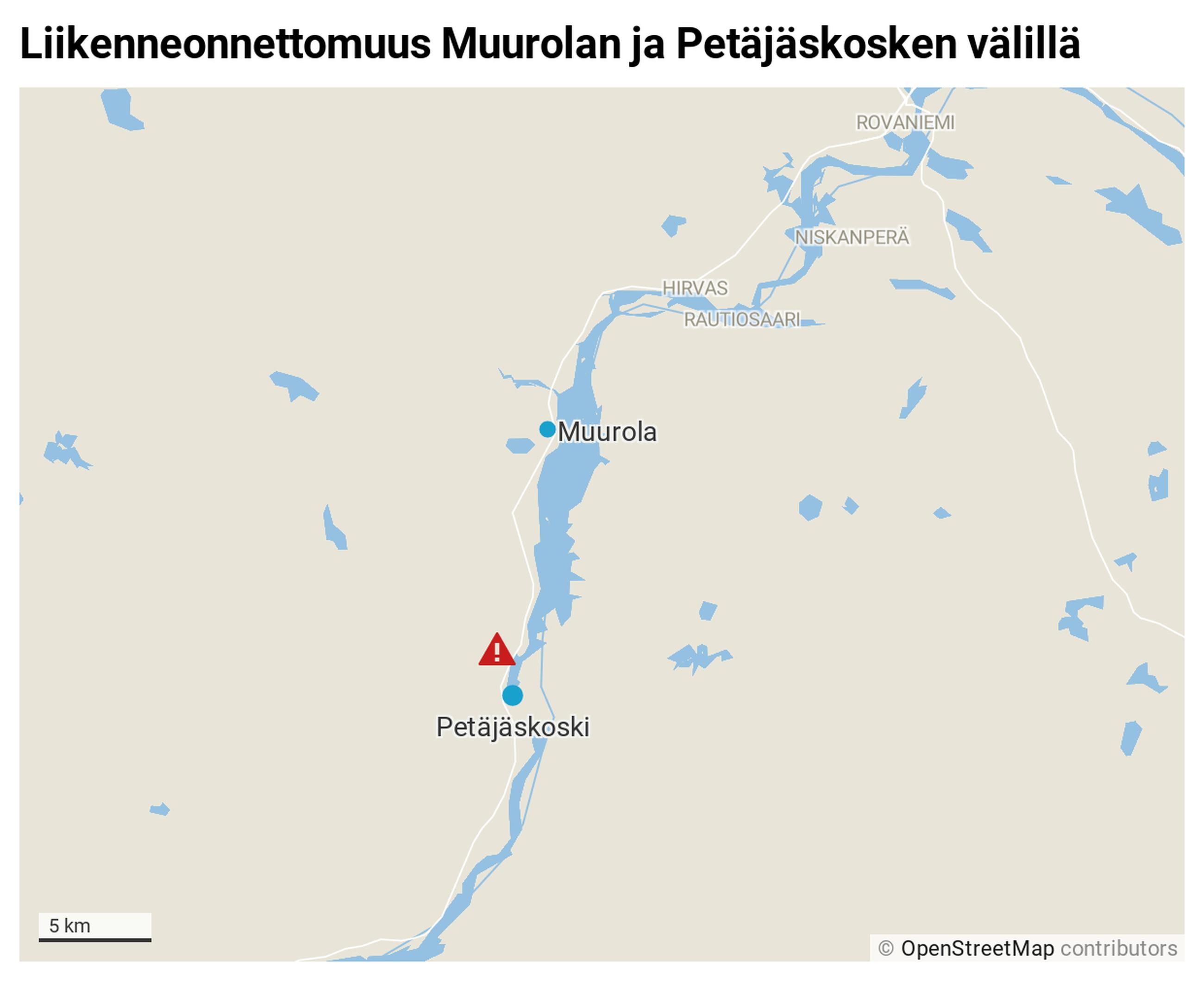 Liikenneonnettomuus Rovaniemi