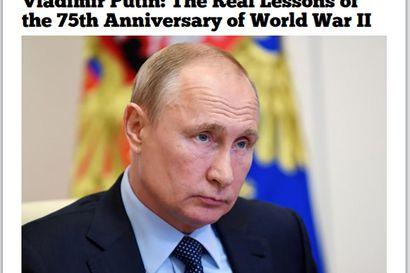 """Putinin kirjoitus syytti länttä maailmansodasta – """"Venäjä tahtoo pitää yllä kertomusta, että Neuvostoliitto kukisti Saksan käytännössä yksin"""""""