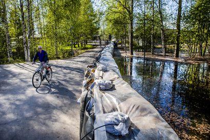 Vuotos-allas vaihtui tulvavalleihin  Rovaniemellä – Vallien maksajasta ja suojaustavasta saattaa olla edessä vielä iso vääntö