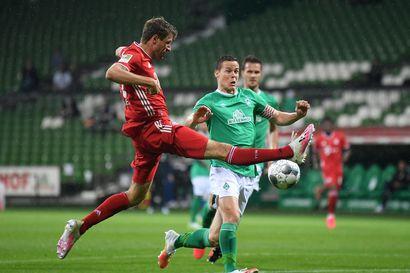 Niklas Moisanderille ja Werder Bremenille kirvelevä tappio – säilymistoiveet ovat ohuen oljenkorren varassa