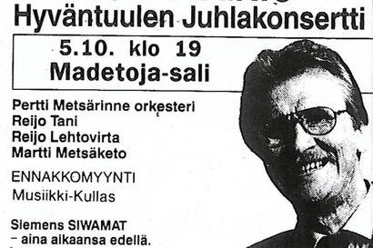 Junnu Vainio esiintyi Oulussa viimeisen kerran 30 vuotta sitten Madetojan salissa, jossa hän veisteli Merjalle tangon sanat.