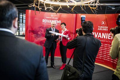 Näin hulppeita lentoyhteyden avajaisjuhlia ei ole ennen Rovaniemellä nähty – Istanbul solmii yhteyden Rovaniemeltä Dubaihin