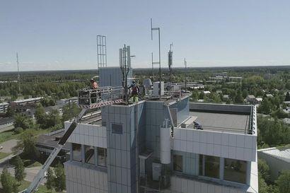 5G-verkon asennus Raahen tornitaloon