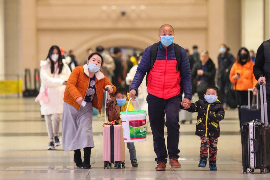 Koronavirukseen on kuollut toistasataa ihmistä Kiinassa. Tartunnan saaneita on noin 4500. Kuva Wuhanista, jossa epidemian uskotaan saaneen alkunsa.
