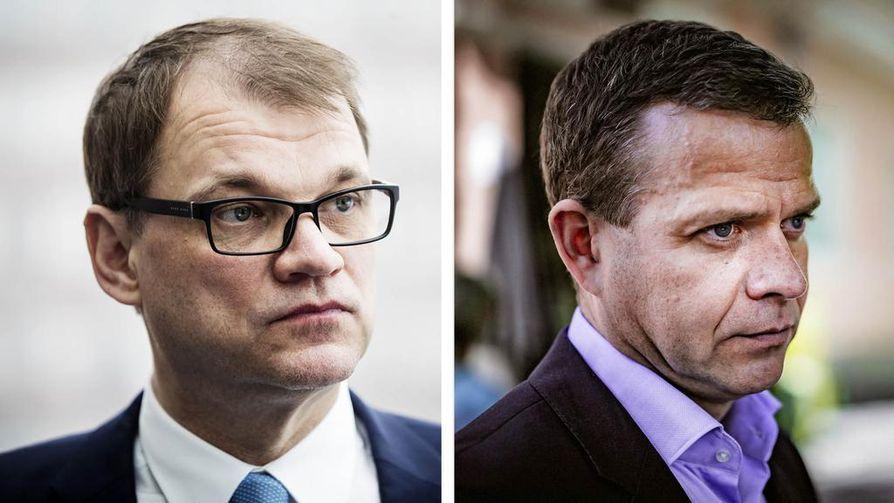 Juha Sipilä ja Petteri Orpo kiittelivät EU-komission puheenjohtajan Jean-Claude Junckerin Unionin-tila puhetta eteenpäin katsovaksi kriisivuosien jälkeen.
